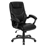 HI-BACK BK LEATHER EXEC CHAIR