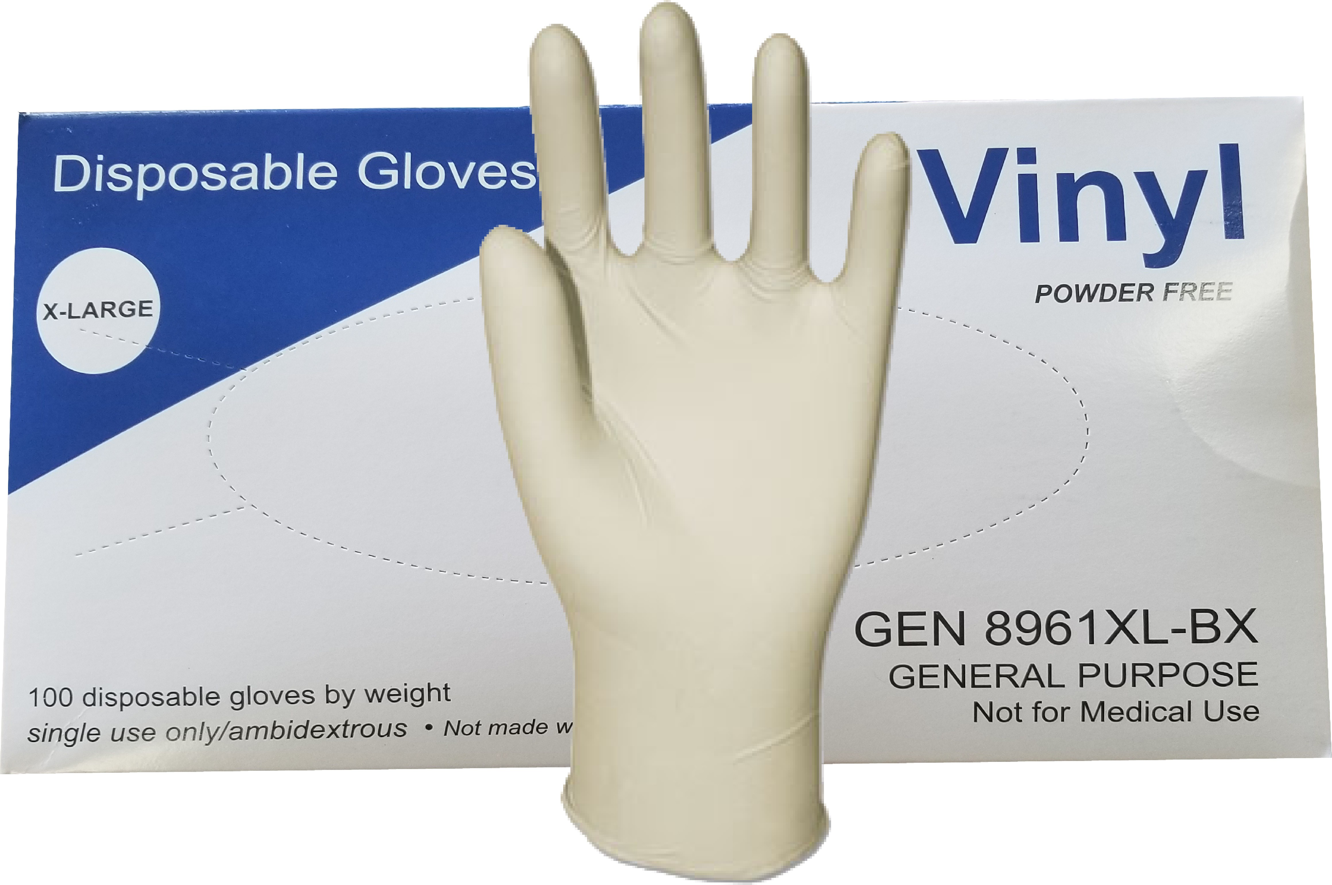 GLOVES,GP,VINYL,PF,XL,CLR